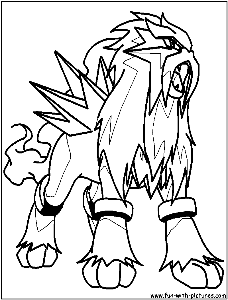 Legendary Pokemon Coloring Pages Of Entei Sketch Coloring Page