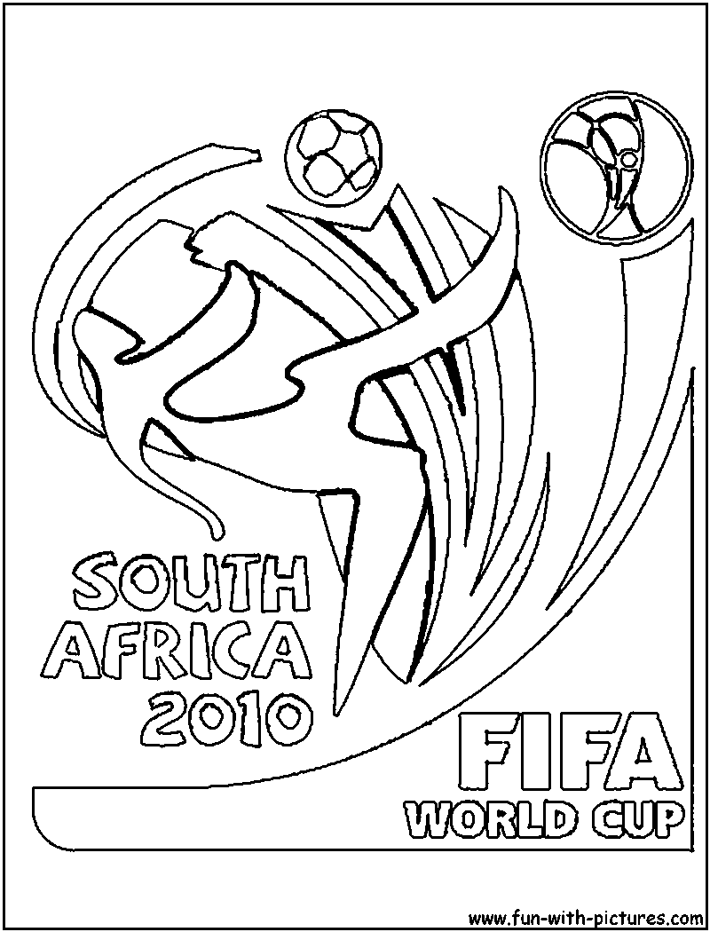 brazil soccer logo coloring pages | Fifa Worldcup Logo Coloring Page