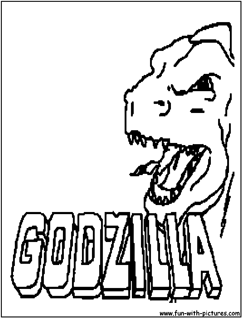 godzilla intro coloring page