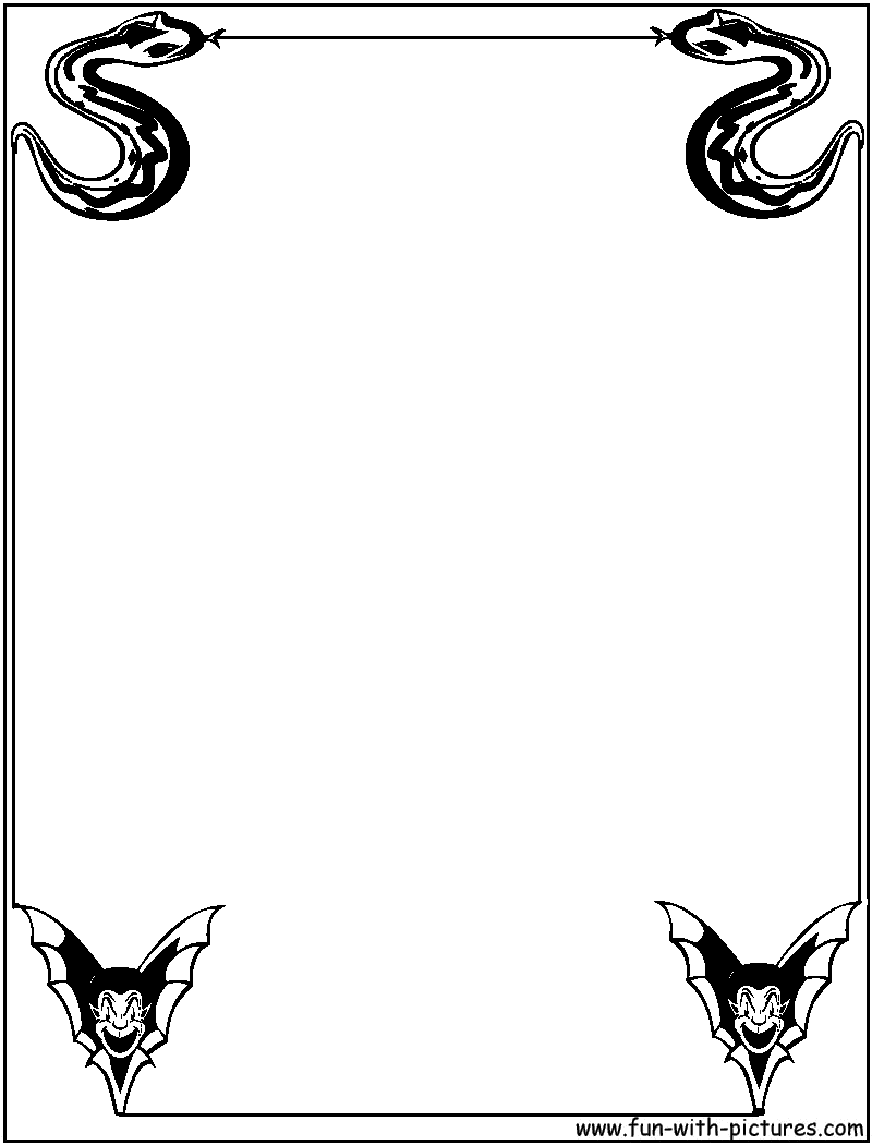 halloween coloring pages borders - photo#28