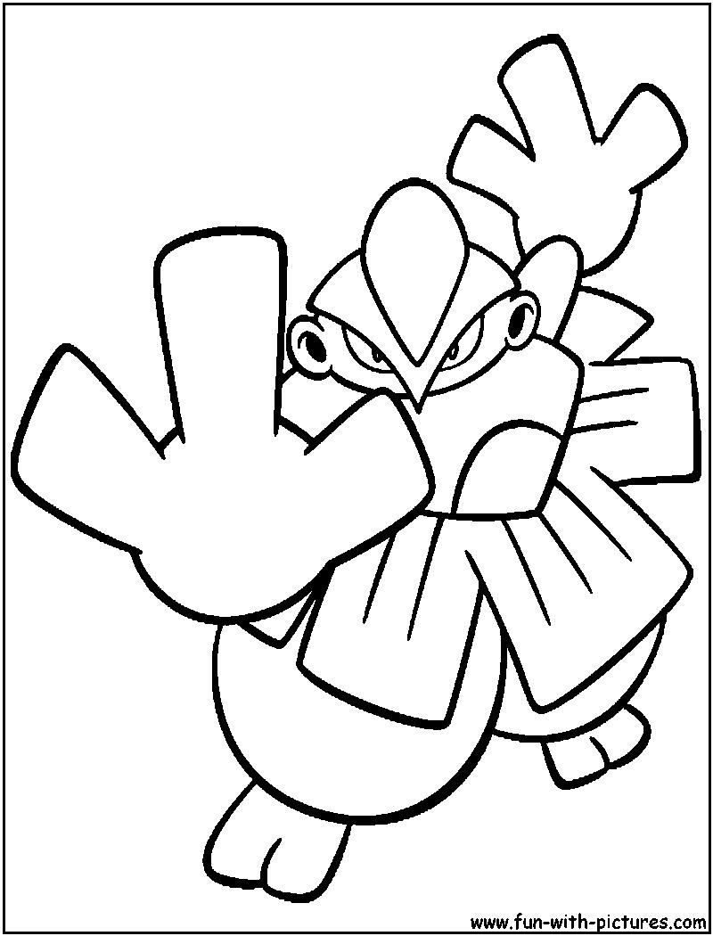 Hariyama Coloring Page