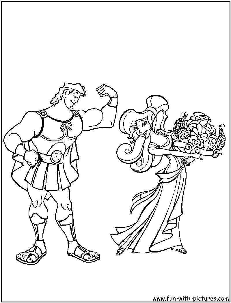 Hercules Meg Coloring Page