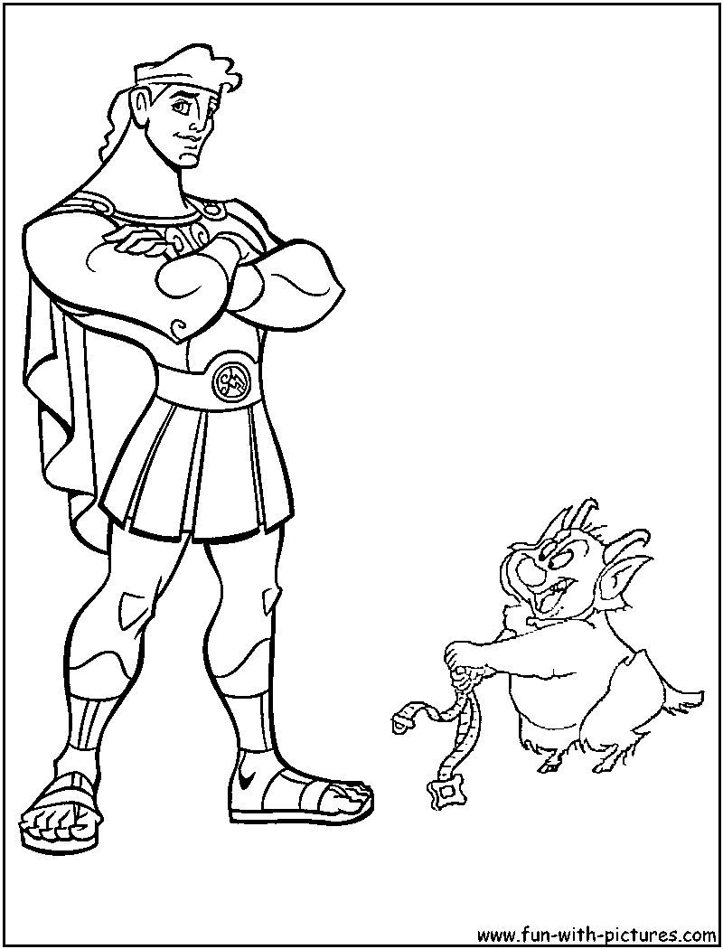 Hercules Phil Coloring Page