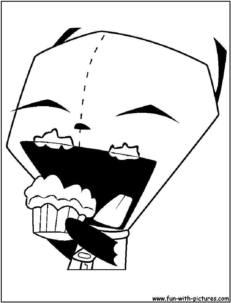 Free Invader Zim Gir Coloring Pages To Print, Download Free Clip ... | 1050x800