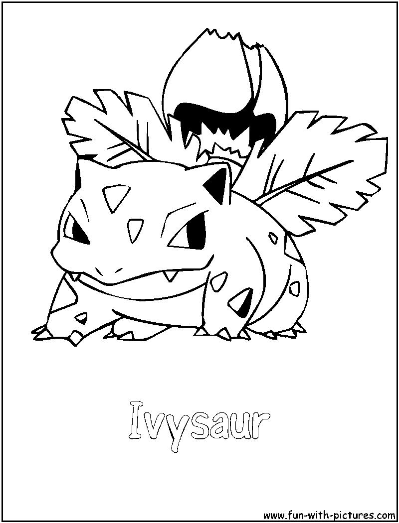 Ivysaur Coloring Page