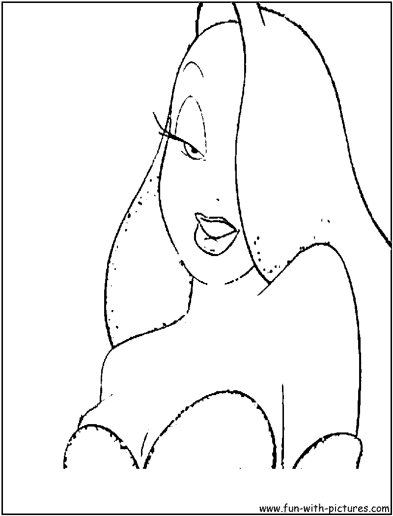 - Jessica Rabbit Coloring Page