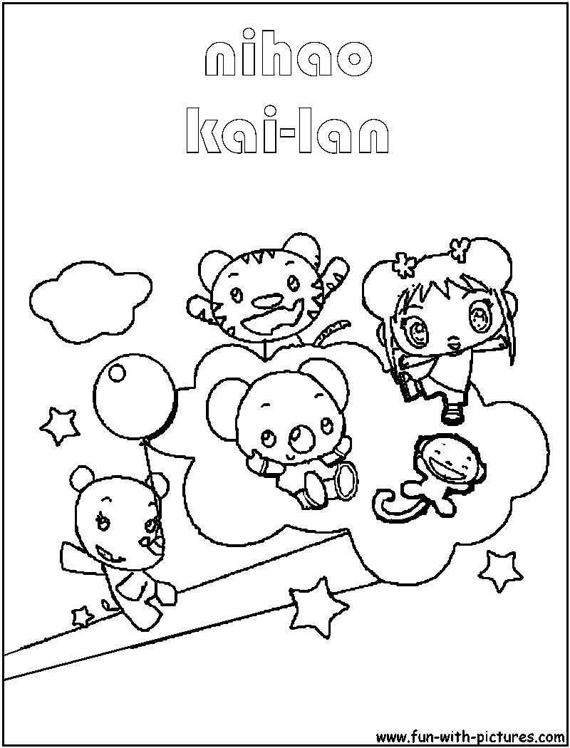 - Kailan And Friends Coloring Page