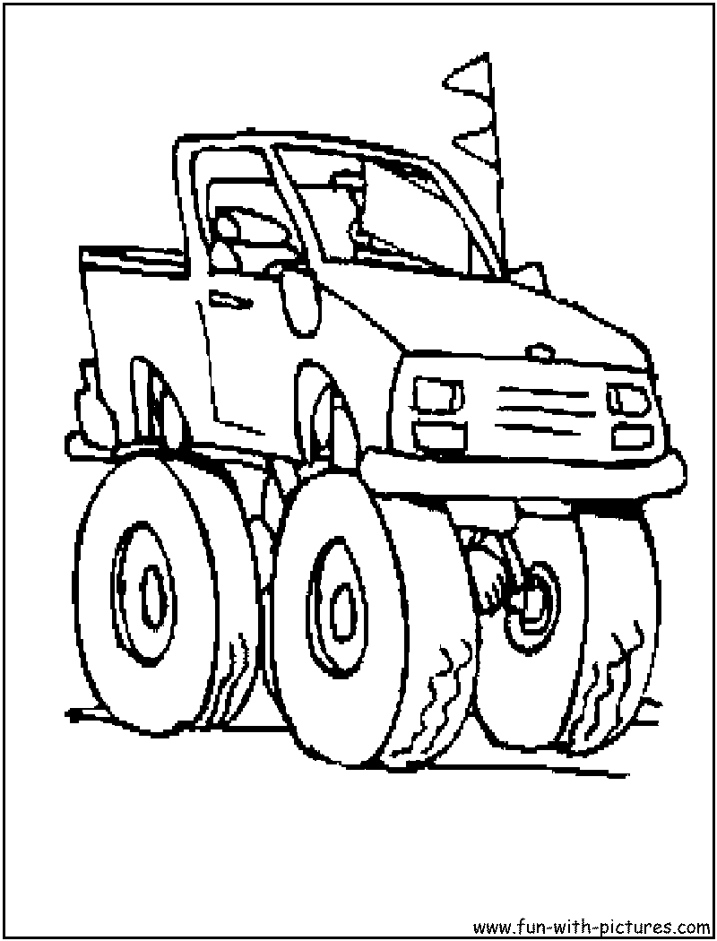 Monster Truck Coloring Pages - Free Printable Colouring ...