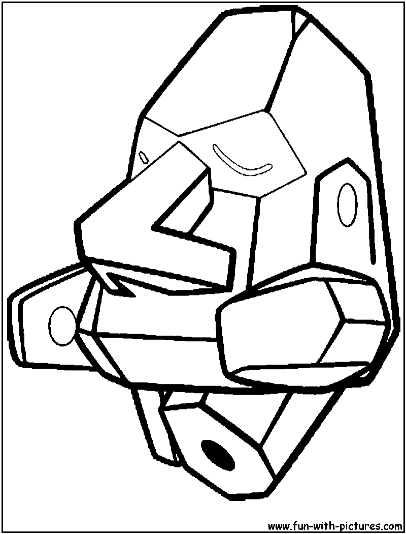 Rock Pokemon Coloring Pages Free