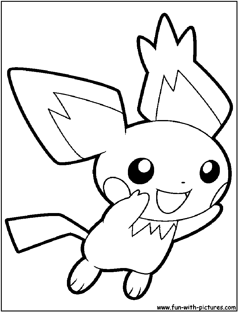 Pichu Coloring Page