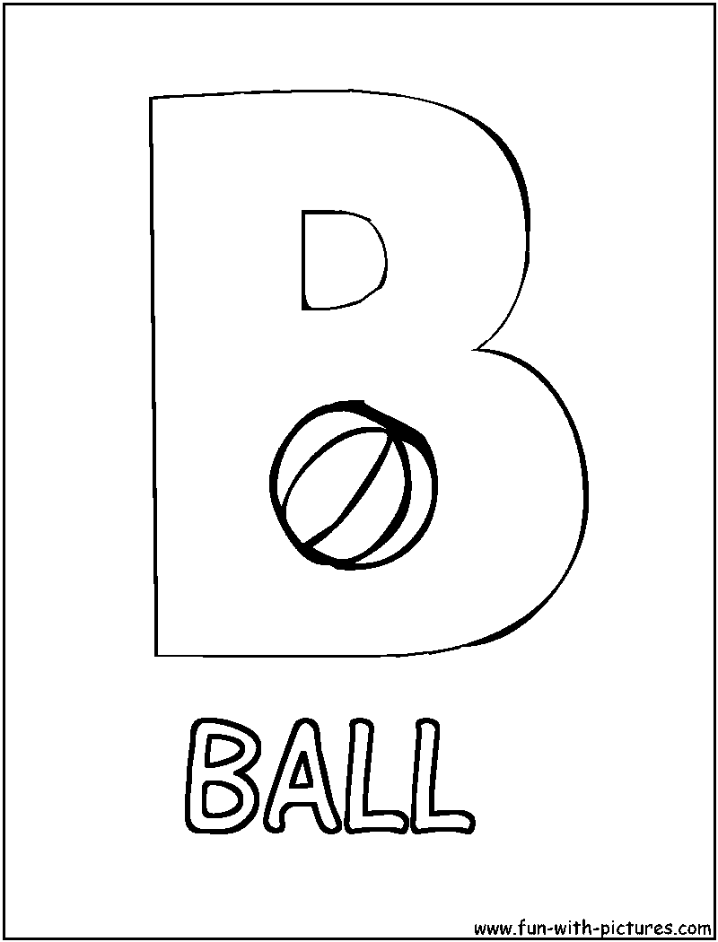 Picture Alphabets B Coloring Page