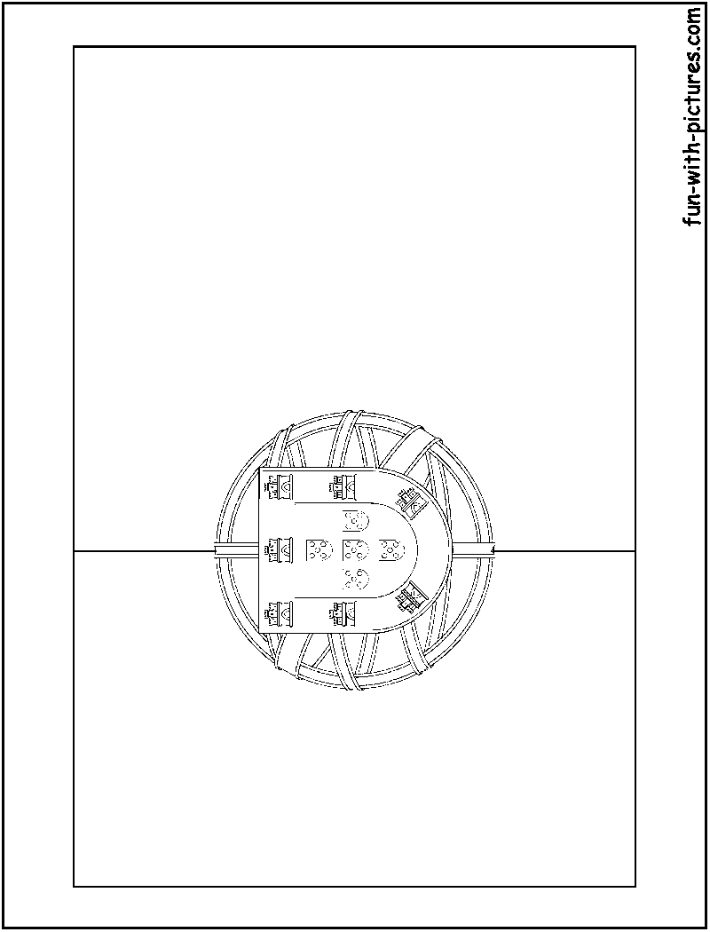 Portugal Flag Coloring Page