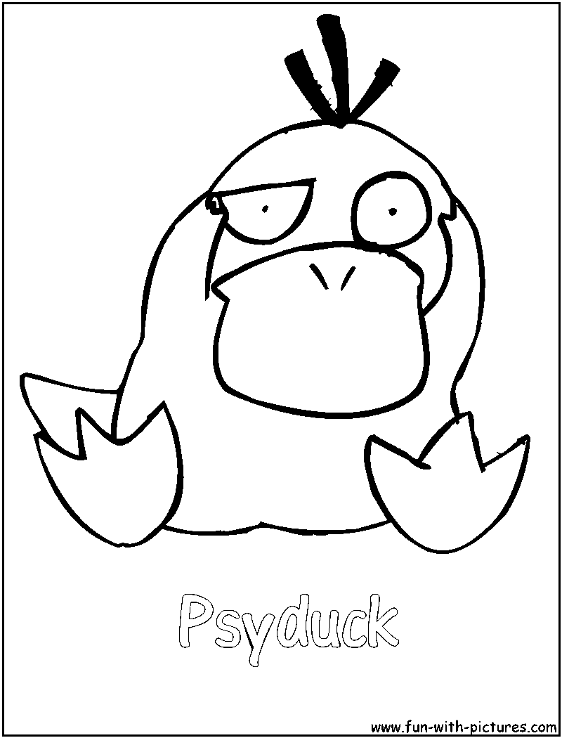 Psyduck Coloring Page