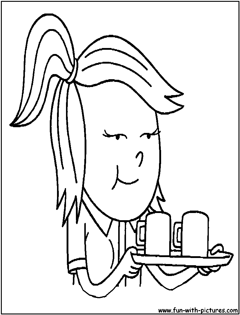 Regular Show Eileen Coloring Page