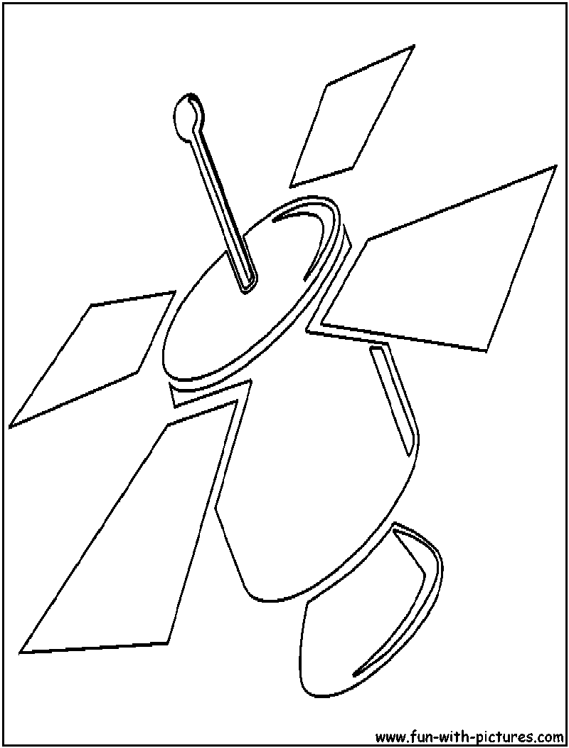 satellite cutout coloring page