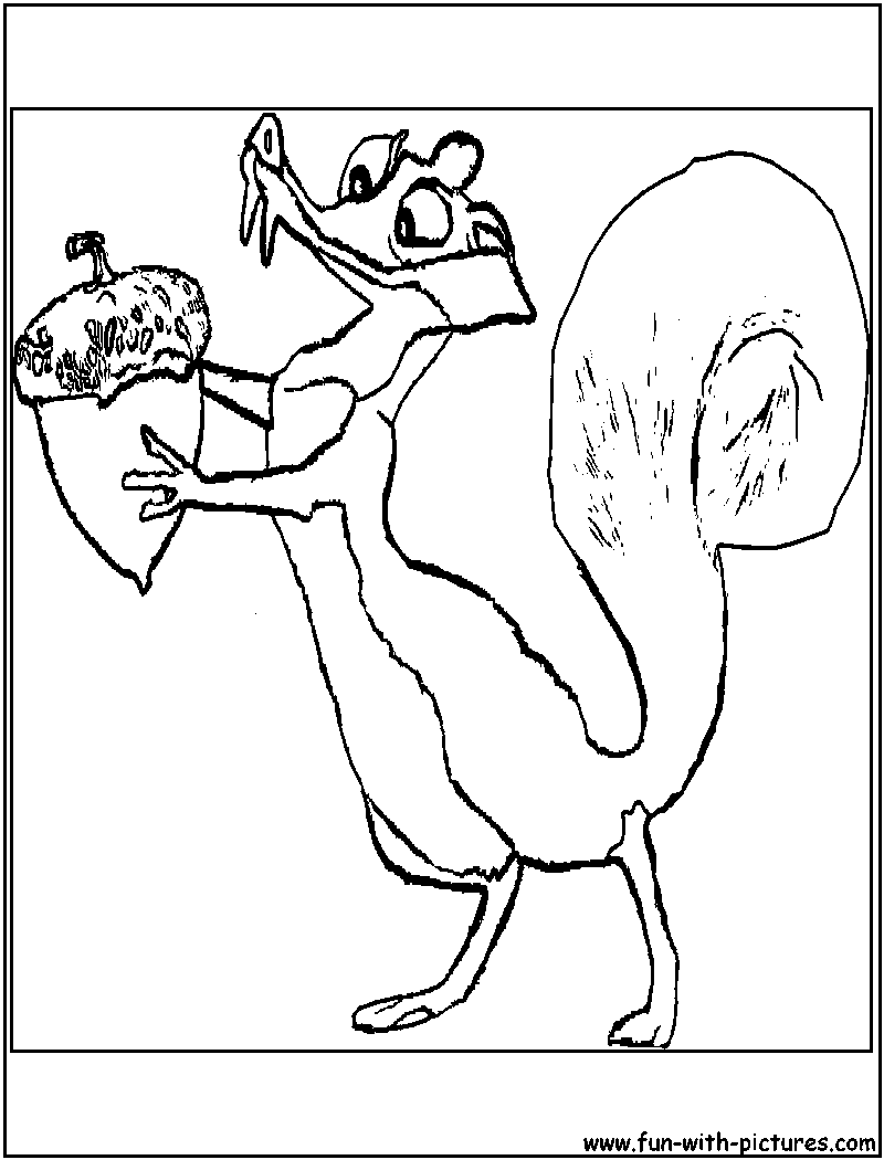 Scratte Iceage Coloring Page