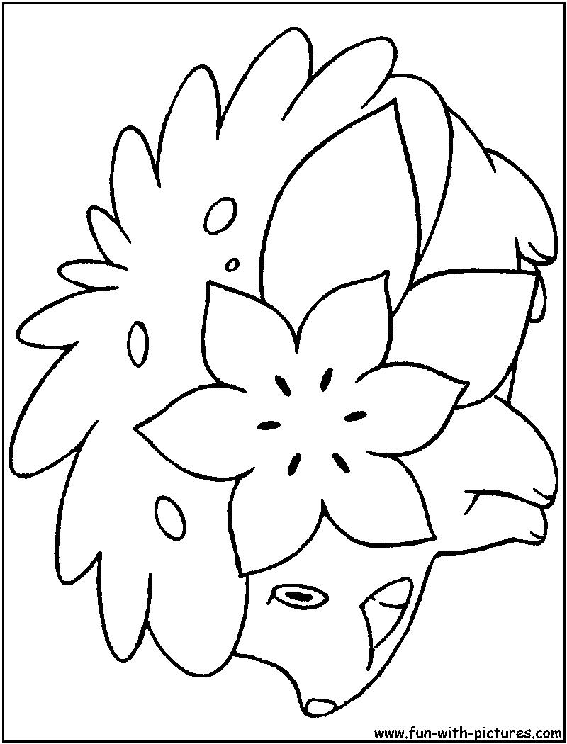 Shaymin Land Coloring Page