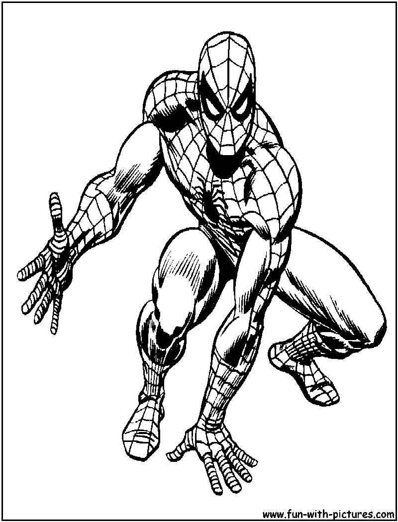 Spider Man coloring pages | Print and Color.com | 1050x800