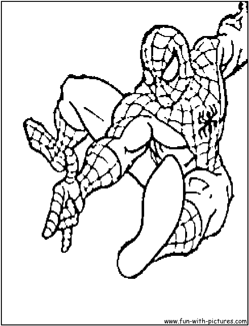 Free Printable Spiderman Coloring Pages For Kids | 1050x800