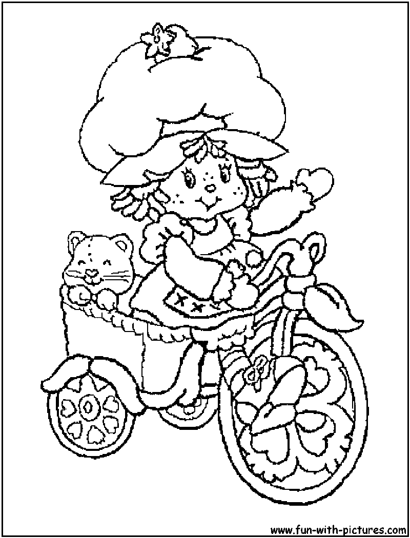 Top 20 Free printable Strawberry Shortcake Coloring Pages Online | 1050x800