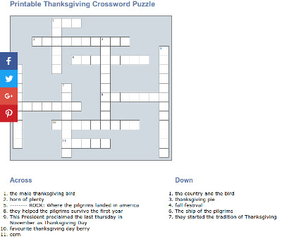 image regarding Thanksgiving Crossword Puzzle Printable named Crossword Puzzles For Children - No cost Printables and Pursuits