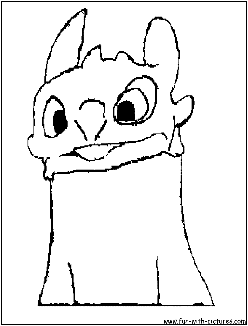 - Toothless Coloring Page