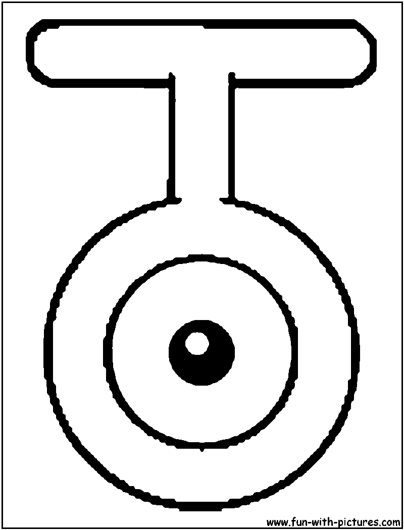 Unown T Coloring Page