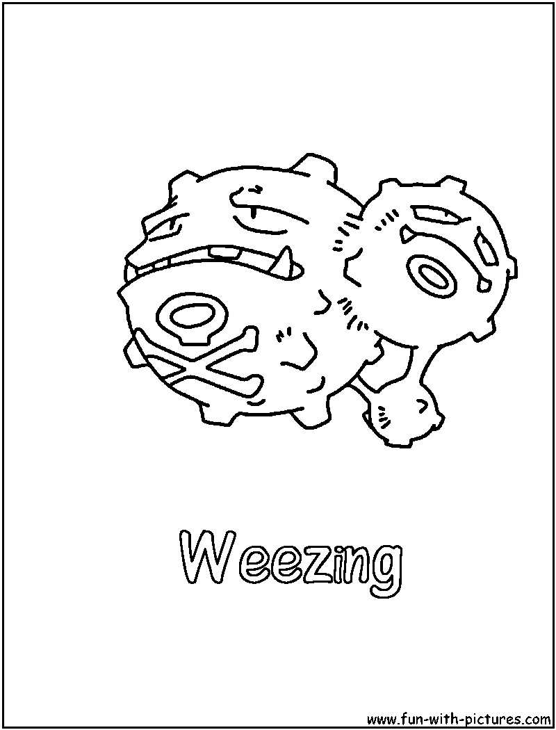Poison Pokemon Coloring Pages